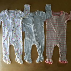 Other - Lof of 3 baby girl pajamas, size 0-3 months, NWOT